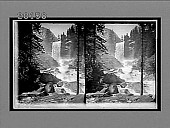 view The enchanted Vale--roaring Merced River and beautiful Vernal Falls, from Lade Franklin Rock. [Active no. 6065 : stereo interpositive.] digital asset: The enchanted Vale--roaring Merced River and beautiful Vernal Falls, from Lade Franklin Rock. [Active no. 6065 : stereo interpositive.]