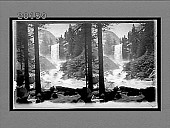 view The enchanted Vale--roaring Merced River and beautiful Vernal Falls, from Lade Franklin Rock. 6065 Interpositive digital asset: The enchanted Vale--roaring Merced River and beautiful Vernal Falls, from Lade Franklin Rock. 6065 Interpositive.