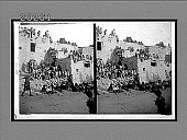 """view The """"strenuous"""" (?) life of the Hopi Indians--an afternoon scene, Oraibi village, Arizona. 6174 Interpositive digital asset: The """"strenuous"""" (?) life of the Hopi Indians--an afternoon scene, Oraibi village, Arizona. 6174 Interpositive."""