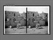 """view """"Runaway Fox"""" (Kewanwahtiwa) and his home at Oraibi, Hopi Indian Reservation, Arizona. 6176 Interpositive digital asset: """"Runaway Fox"""" (Kewanwahtiwa) and his home at Oraibi, Hopi Indian Reservation, Arizona. 6176 Interpositive."""