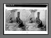 view Primitive methods--a Hopi squaw coiling clay into pottery--Oraibi, Arizona. 6179 Interpositive digital asset: Primitive methods--a Hopi squaw coiling clay into pottery--Oraibi, Arizona. 6179 Interpositive.