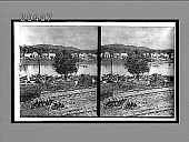 view The Panama Railroad and River Chagres at Gutan near where the river crosses the Canal (west). [Active no. 6467 : stereo interpositive.] digital asset: The Panama Railroad and River Chagres at Gutan near where the river crosses the Canal (west). [Active no. 6467 : stereo interpositive.]