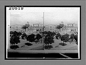 view Columbus Memorial and old tree under which was celebrated the first Mass in Havana. 6495 interpositive digital asset: Columbus Memorial and old tree under which was celebrated the first Mass in Havana. 6495 interpositive.
