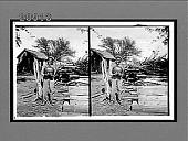 view [African American boy holding watermelon. Active no. 7229 : stereo interpositive.] digital asset: [African American boy holding watermelon. Active no. 7229 : stereo interpositive.]