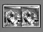 view [Five coeds in dormitory room, one in bridal gown on bed, and a stuffed dummy of a man seated on chair. Part of comic narrative series. Active no. 7331: stereo interpositive.] digital asset: [Five coeds in dormitory room, one in bridal gown on bed, and a stuffed dummy of a man seated on chair. Part of comic narrative series. Active no. 7331: stereo interpositive.]