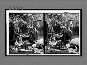 view [Five coeds in dormitory rooom at rough end of bridal party of drinking and eating. Active no. 7335 : stereo interpositive.] digital asset: [Five coeds in dormitory rooom at rough end of bridal party of drinking and eating. Active no. 7335 : stereo interpositive.]