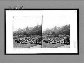 view Princes St. Gardens--holiday throngs listening to a band concert, Edinburgh. [Active no. 7463 : stereo interpositive.] digital asset: Princes St. Gardens--holiday throngs listening to a band concert, Edinburgh. [Active no. 7463 : stereo interpositive.]