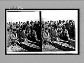 view Russian prisoners just after the surrender--at Choraizi Station, near Port Arthur. 7569 Interpositive digital asset: Russian prisoners just after the surrender--at Choraizi Station, near Port Arthur. 7569 Interpositive