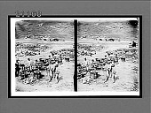 view Japanese soldiers cooking rice close to the fighting lines--siege of Port Arthur. [Active no. 7602 : stereo interpositive.] digital asset: Japanese soldiers cooking rice close to the fighting lines--siege of Port Arthur. [Active no. 7602 : stereo interpositive.]