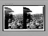 view [Theodore Roosevelt campaigning from rear car of train.] 7677 interpositive digital asset: [Theodore Roosevelt campaigning from rear car of train.] 7677 interpositive.