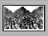 view [Street crowd of Theodore Roosevelt campaign.] 7678 interpositive digital asset: [Street crowd of Theodore Roosevelt campaign.] 7678 interpositive.
