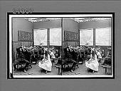 view Small indoor classroom scene. Active no. 7874 : stereo interpositive.] digital asset: Small indoor classroom scene. Active no. 7874 : stereo interpositive.]