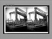 view Lifting 10 tons of iron ore from hold of Lake Superior steamer to dock. 7970 interpositive digital asset: Lifting 10 tons of iron ore from hold of Lake Superior steamer to dock. 7970 interpositive.