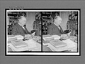 view Ex-President Grover Cleveland, scholar and statesman, at his desk, Princeton, N.J. [Active no. 8006 : stereo interpositive.] digital asset: Ex-President Grover Cleveland, scholar and statesman, at his desk, Princeton, N.J. [Active no. 8006 : stereo interpositive.]