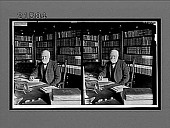 view Andrew Carnegie in the library of his home, New York City. [Active no. 8008 : stereo interpositive.] digital asset: Andrew Carnegie in the library of his home, New York City. [Active no. 8008 : stereo interpositive.]