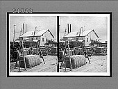 view Cotton in wagons at mill, and clean baled cotton to be weighed. 8088 interpositive digital asset: Cotton in wagons at mill, and clean baled cotton to be weighed. 8088 interpositive.