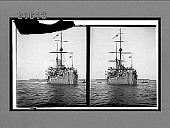 view Battleship Asahi, one of Togo's fighters in the famous battle of the Sea of Japan. No. 8121 : stereo interpositive digital asset: Battleship Asahi, one of Togo's fighters in the famous battle of the Sea of Japan. No. 8121 : stereo interpositive.