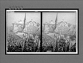 view Triumphal arch and immense throngs to welcome heroic Admiral Togo after his victories. 8123 interpositive digital asset: Triumphal arch and immense throngs to welcome heroic Admiral Togo after his victories. 8123 interpositive.