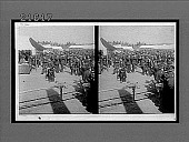 view Admiral and Madame Togo leaving Aoyama cemetery after service for dead sailors. No. 8125 : stereo interpositive digital asset: Admiral and Madame Togo leaving Aoyama cemetery after service for dead sailors. No. 8125 : stereo interpositive.