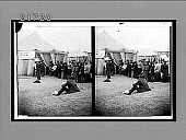 """view The """"Bread Line""""--a world's gifts of food to the victims of earthquake and fire. Caption no. 8238 : stereoscopic interpositive digital asset: The """"Bread Line""""--a world's gifts of food to the victims of earthquake and fire. Caption no. 8238 : stereoscopic interpositive, 1906."""