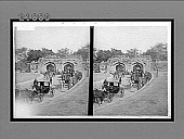view The Cashmere Gate, battered by shot and shell, where the British entered (1857), Delhi. 8454 Interpositive digital asset: The Cashmere Gate, battered by shot and shell, where the British entered (1857), Delhi. 8454 Interpositive.
