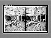 view Volunteer firemen ready to run with the engine, Cathedral Square, Guayaquil. [Active no. 9184 : stereo interpositive.] digital asset: Volunteer firemen ready to run with the engine, Cathedral Square, Guayaquil. [Active no. 9184 : stereo interpositive.]