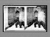 view Pious monks of the Eastern Orthodox Church at door of cavern-monastery. [Active no. 9339 : stereo interpositive,] 1905 digital asset number 1