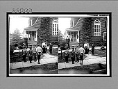 view [Young student group with teacher outdoors.] 9420 interpositive digital asset: [Young student group with teacher outdoors.] 9420 interpositive 1906.