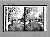 view [Side view of U.S. Capitol from snowy street. Active no. 9553 : stereo interpositive.] digital asset: [Side view of U.S. Capitol from snowy street. Active no. 9553 : stereo interpositive.]