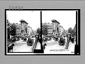 view Along the Boulevard (E.S.E.), afternoon throngs passing Porte St. Denis, Paris. [No. 9570 : stereoscopic interpositive,] digital asset: Along the Boulevard (E.S.E.), afternoon throngs passing Porte St. Denis, Paris. [No. 9570 : stereoscopic interpositive,] 1911.