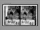 view Mediaeval splendor of cathedral's W. portal--and statue of Joan of Arc, Rheims. Caption no. 9585 : interpositive digital asset: Mediaeval splendor of cathedral's W. portal--and statue of Joan of Arc, Rheims. Caption no. 9585 : interpositive.
