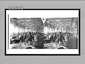 view [Large, elegant dining room interior with waiter. Active no. 9753 : stereo interpositive.] digital asset: [Large, elegant dining room interior with waiter. Active no. 9753 : stereo interpositive.]