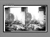 view [San Francisco street scene], Active no. 9761 : stereoscopic interpositive digital asset: [San Francisco street scene], Active no. 9761 : stereoscopic interpositive.