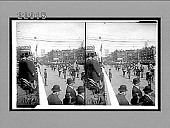 view [President Theodore Roosevelt viewing street parade from stand.] 10022 interpositive digital asset: [President Theodore Roosevelt viewing street parade from stand.] 10022 interpositive.