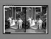 view Thomas A. Edison with his family, at their beautiful home [Llewellyn Park, New Jersey]. [Active no. 10028 : stereo interpositive digital asset: Thomas A. Edison with his family, at their beautiful home [Llewellyn Park, New Jersey]. [Active no. 10028 : stereo interpositive, ca. 1900?]