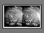 view Dining in the palatial banquet hall of Hotel Astor. 10036 Interpositive digital asset: Dining in the palatial banquet hall of Hotel Astor. 10036 Interpositive 1907.