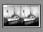 view Battleship Illinois, showing 13-inch and 6-inch and 8-inch guns; U.S. Navy. 10070 interpositive digital asset: Battleship Illinois, showing 13-inch and 6-inch and 8-inch guns; U.S. Navy. 10070 interpositive 1905.