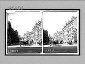 view Bridge St., east from George St., toward the park, Sydney, New South Wales. [Active no. 10266 : stereo interpositive,] digital asset: Bridge St., east from George St., toward the park, Sydney, New South Wales. [Active no. 10266 : stereo interpositive,] 1908.