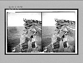view Weathered cliffs at South Head and outlook, S.E. from harbor entrance, Sydney, N.S.W. 10264 Interpositive digital asset: Weathered cliffs at South Head and outlook, S.E. from harbor entrance, Sydney, N.S.W. 10264 Interpositive 1908