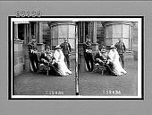 view Admiral Sir Harry Rawson, Miss Rawson, Secretary and Aide-de-Camp, Sydney, N.S.W. Caption No. 10267 : stereoscopic interpositive digital asset: Admiral Sir Harry Rawson, Miss Rawson, Secretary and Aide-de-Camp, Sydney, N.S.W. Caption No. 10267 : stereoscopic interpositive, 1908.