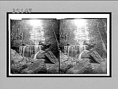 view Silvery downpour of the waters at Leura Falls, Katoomba Valley, N.S.W. 10277 Interpositive digital asset: Silvery downpour of the waters at Leura Falls, Katoomba Valley, N.S.W. 10277 Interpositive 1908