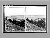 view Looking from height above Devenport, S.E. across harbor to Mt. Eden. 10299 Interpositive digital asset: Looking from height above Devenport, S.E. across harbor to Mt. Eden. 10299 Interpositive 1908.