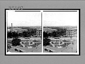 view [Overview of city plaza with central fountain and monument.] 10330 interpositive digital asset: [Overview of city plaza with central fountain and monument.] 10330 interpositive.