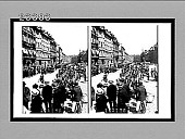 view Bavarian troops passing old Hercules fountain and Fuggerhaus, Augsburg. 10446 Interpositive digital asset: Bavarian troops passing old Hercules fountain and Fuggerhaus, Augsburg. 10446 Interpositive
