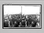 view The cosmopolitan crowd on the bridge over the Golden Horn. [Active no. 10574 : stereo interpositive digital asset: The cosmopolitan crowd on the bridge over the Golden Horn. [Active no. 10574 : stereo interpositive.