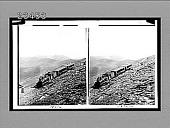 view Cog railway near Mt. McClellan's summit, S. to Mts. Rosalie and Evans. 10616 Interpositive digital asset: Cog railway near Mt. McClellan's summit, S. to Mts. Rosalie and Evans. 10616 Interpositive 1910.