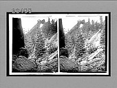 view Royal Arch from Devil's staircase on the Flatirons S.E. near Boulder. 10619 Interpositive 1910 digital asset number 1