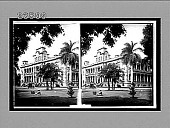 view Old Palace at Honolulu, now the Executive Building, H.Is. 10687 Interpositive digital asset: Old Palace at Honolulu, now the Executive Building, H.Is. 10687 Interpositive 1910.