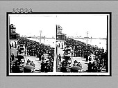 "view Atlantic City's famous ""boardwalk"" along the beach, thronged with guests. [Active no. 10706 : stereo interpositive,] digital asset: Atlantic City's famous ""boardwalk"" along the beach, thronged with guests. [Active no. 10706 : stereo interpositive,] April 1910."