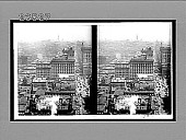 view From Singer Building N. up Broadway to Metropolitan Tower and Times Building. 10711 : stereoscopic interpositive digital asset: From Singer Building N. up Broadway to Metropolitan Tower and Times Building. 10711 : stereoscopic interpositive, 1910.